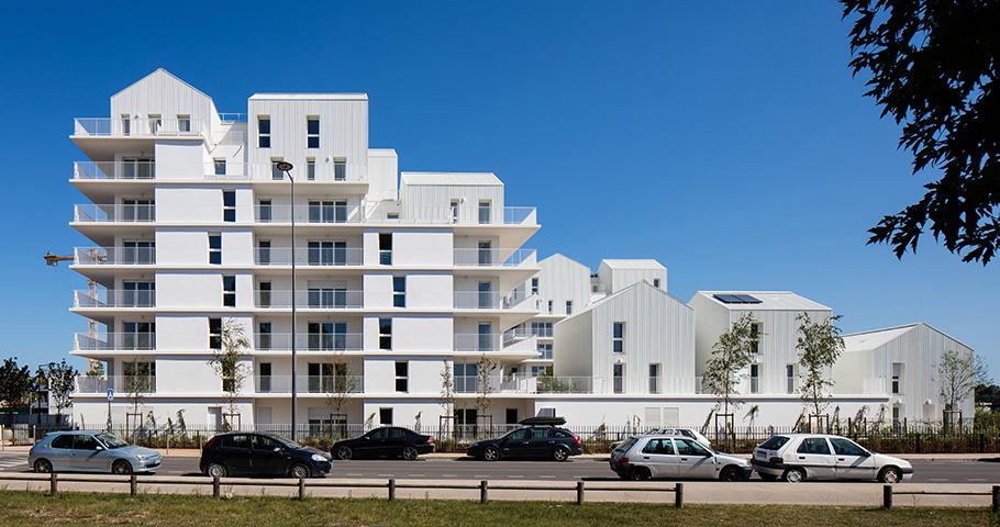 96 logements collectifs, écoquartier Ginko