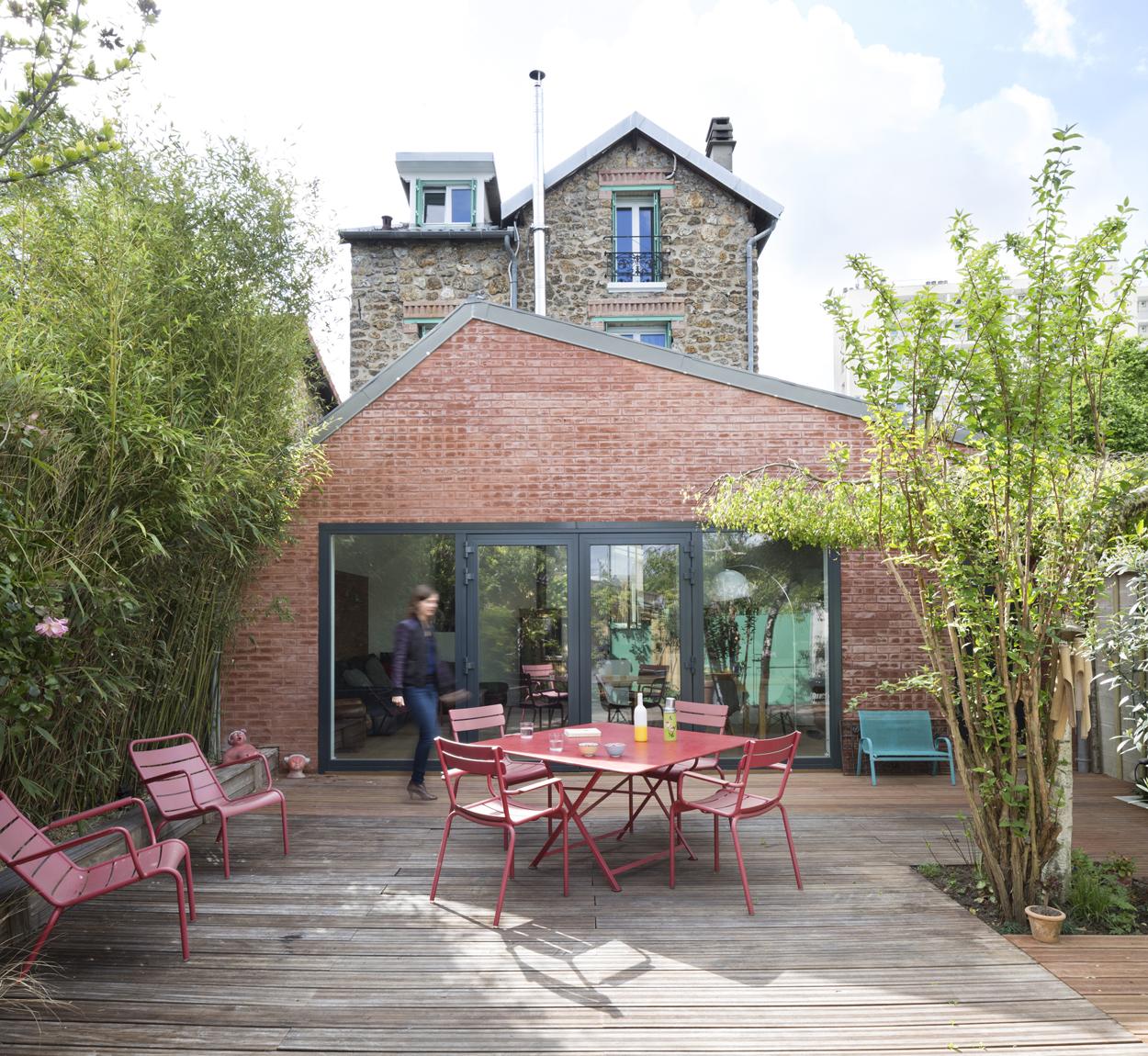 Extension sur terrasse Maison rouge