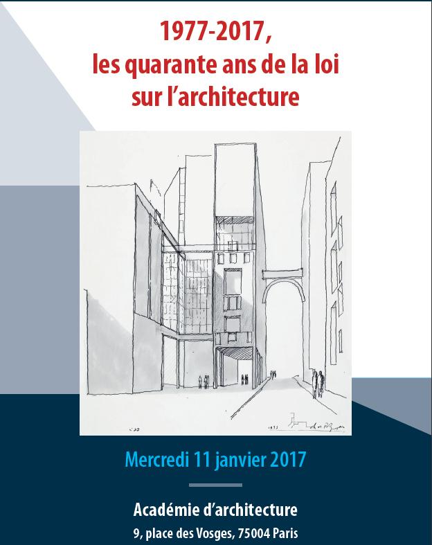 1977 2017 les quarante ans de la loi sur l architecture for Loi architecte 150m2
