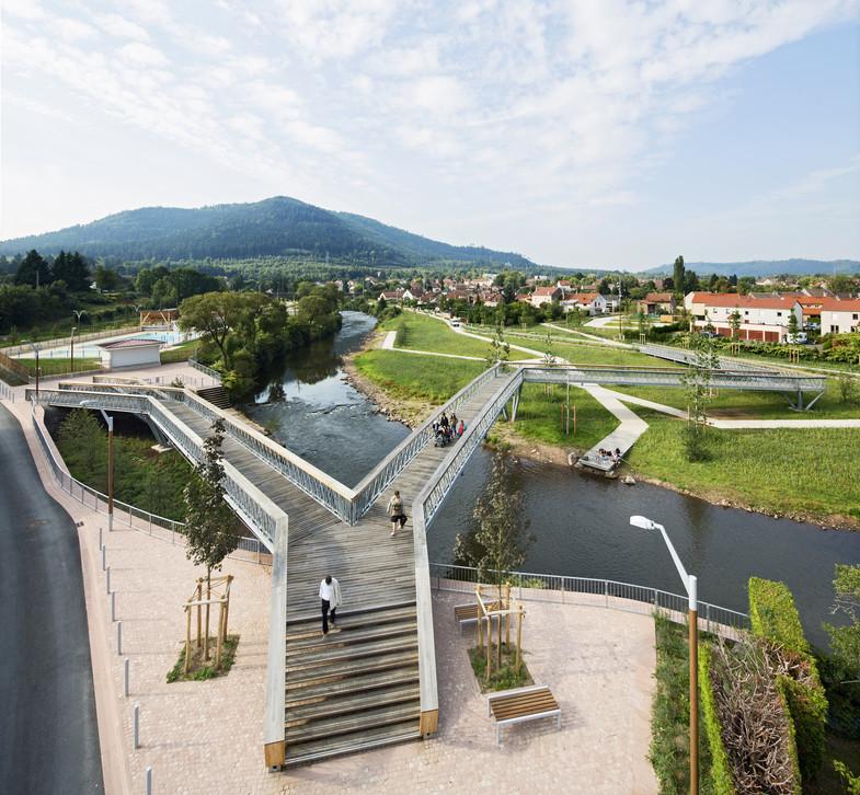 Aménagement des berges de la Meurthe
