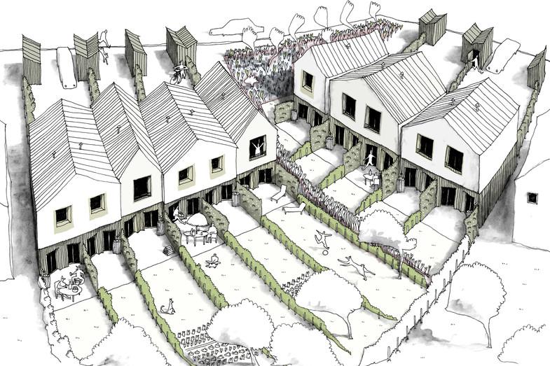 Eco-lotissement les Marronniers / 11 maisons groupées