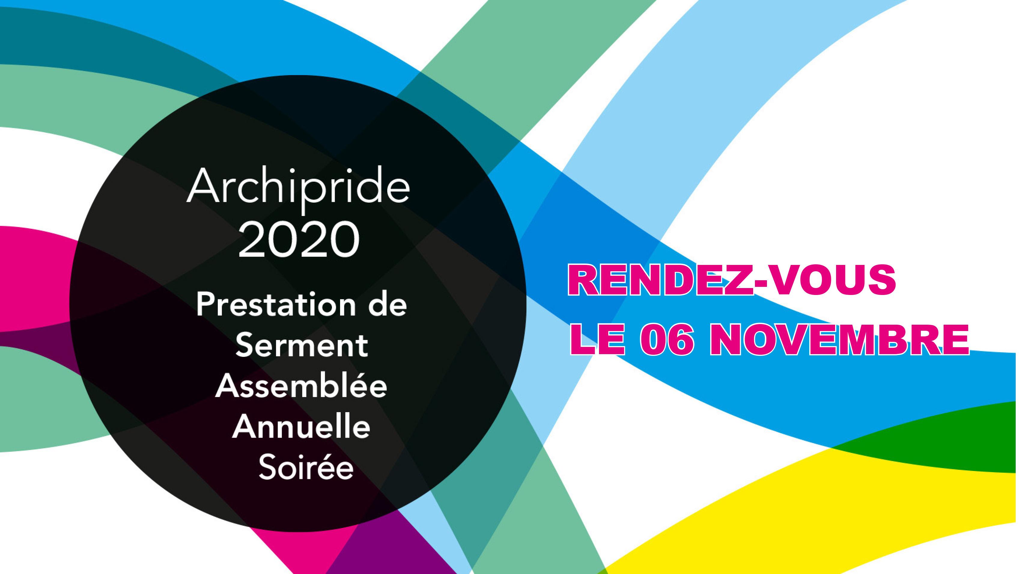 Bandeau - Report Archipride au 6 novembre 2020