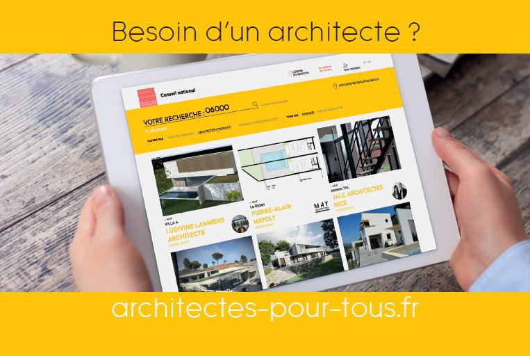 Vous intervenez pour les particuliers faites le savoir for Ordre d architectes