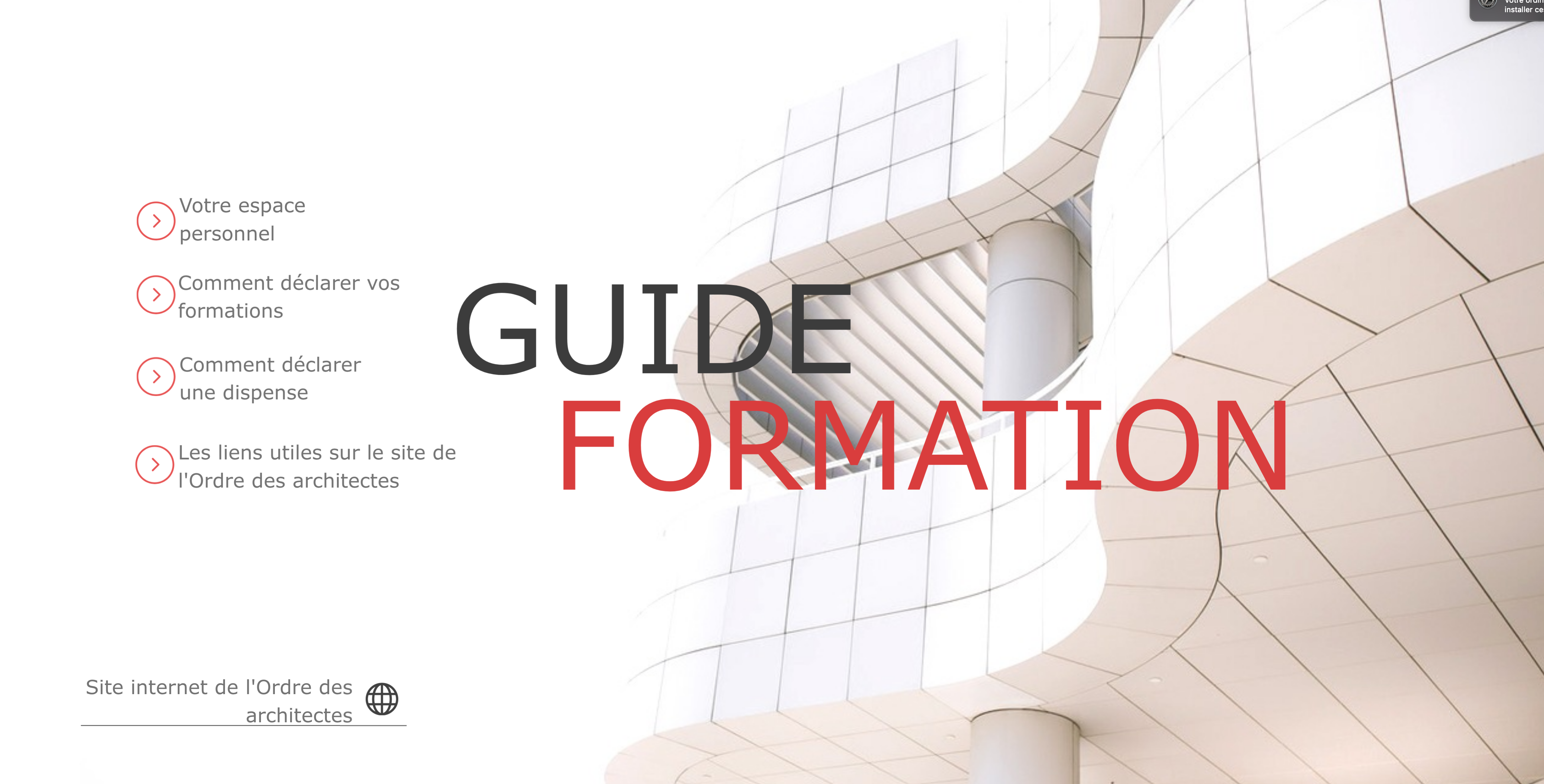 Guide formaion