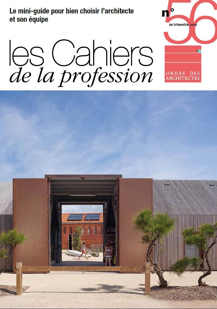 Cahiers de la profession n 56 ordre des architectes for Ordre des architectes centre