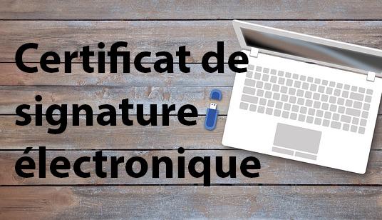 Certificat signature électronique