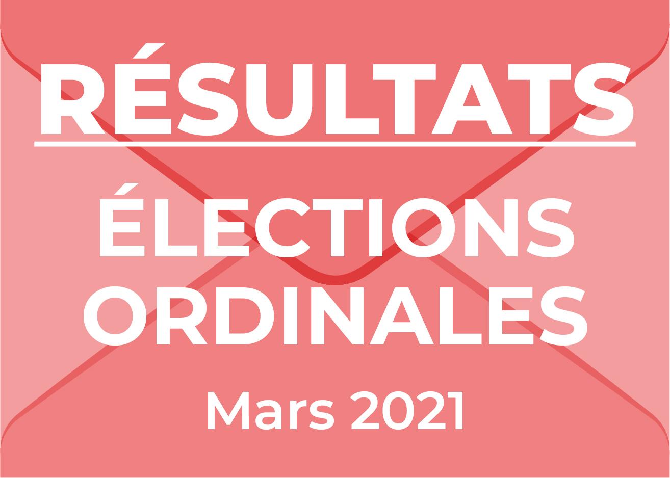 Résultats Elections Ordinales