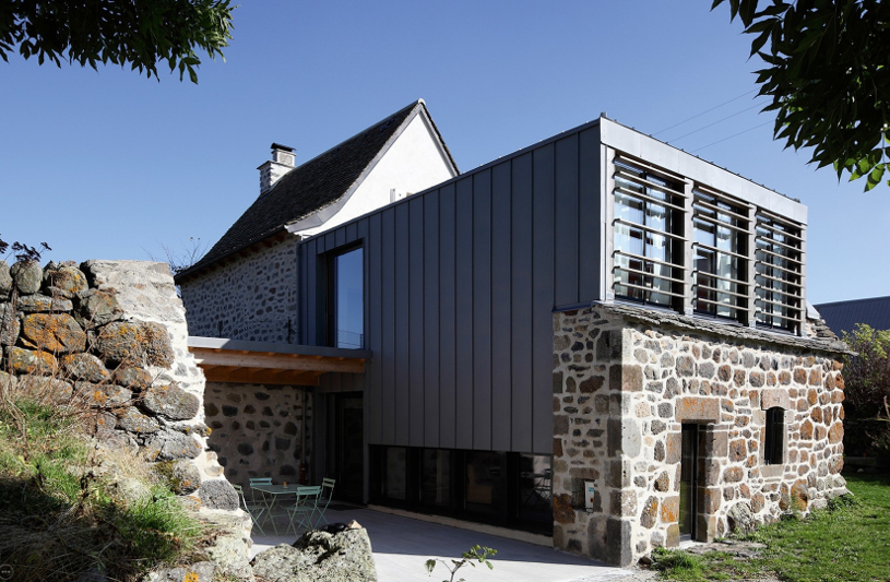 Rénovation d'une maison à Dienne (Cantal), Agence Trinh et Laudat arch.