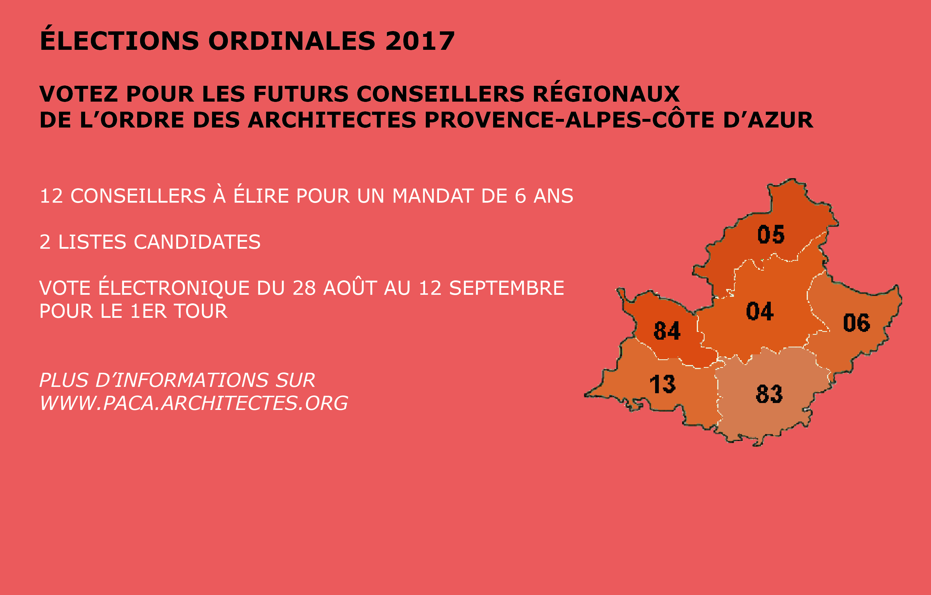Conseil r gional de provence alpes c te d 39 azur ordre des for Ordre des architectes centre