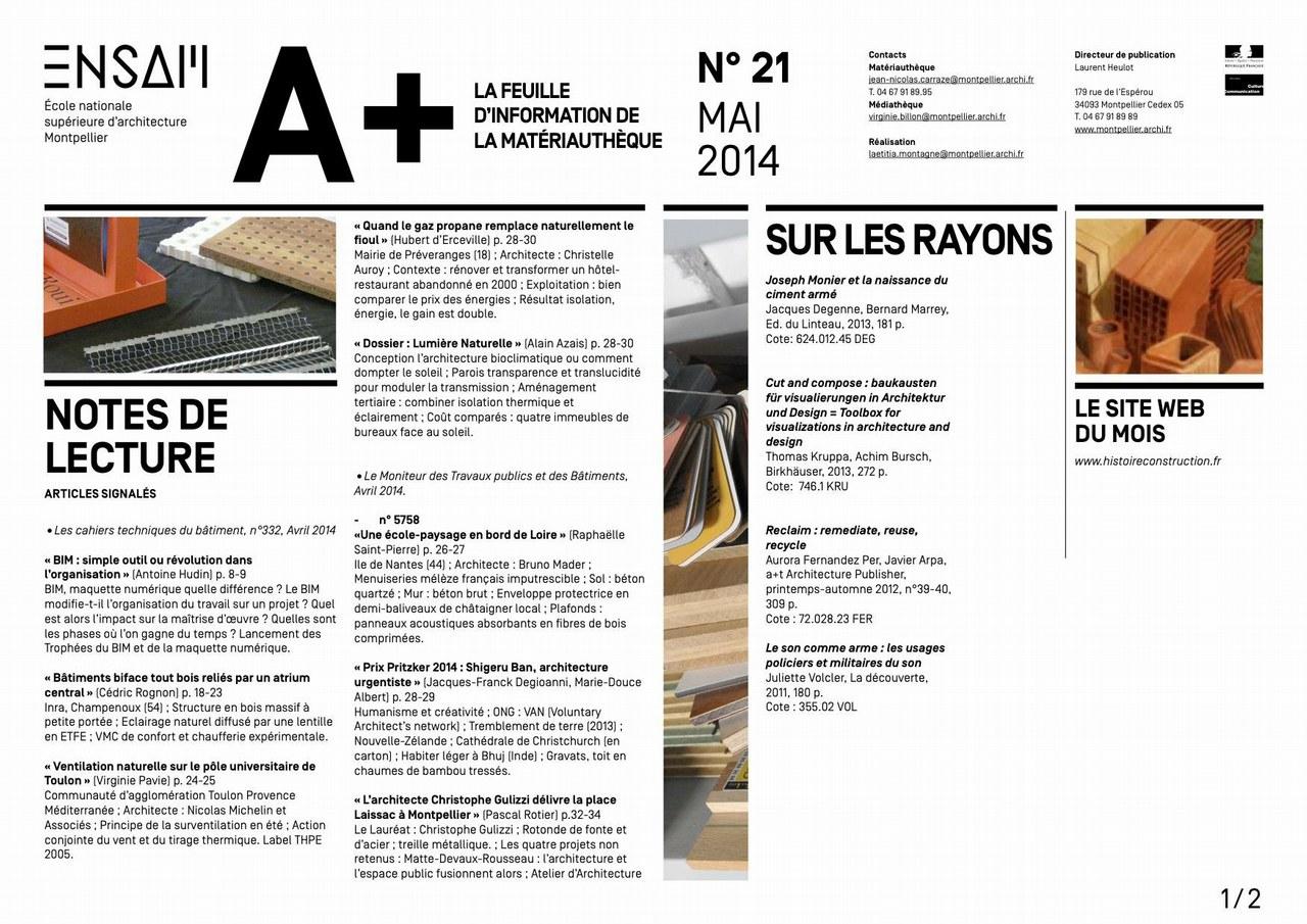 A+ La feuille de la matériauthèque, mai 2014.jpg