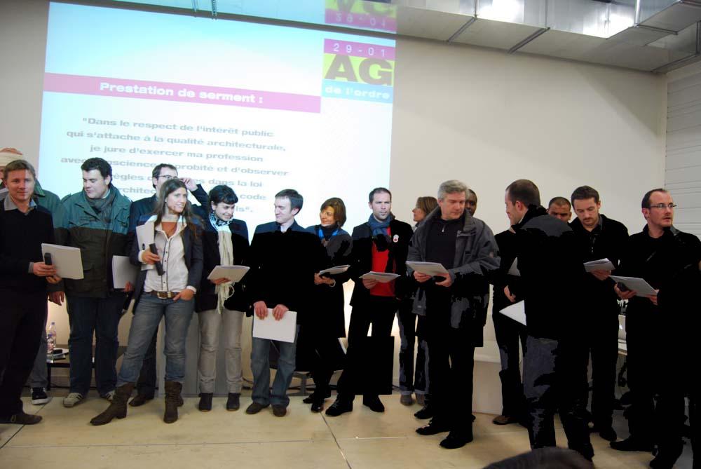 29 janvier 2010 une belle mobilisation des architectes d for Ordre d architectes