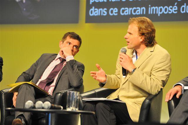 Frédéric Denisart, aux côté du secrétaire d'Etat au Logement, Benoist Apparu