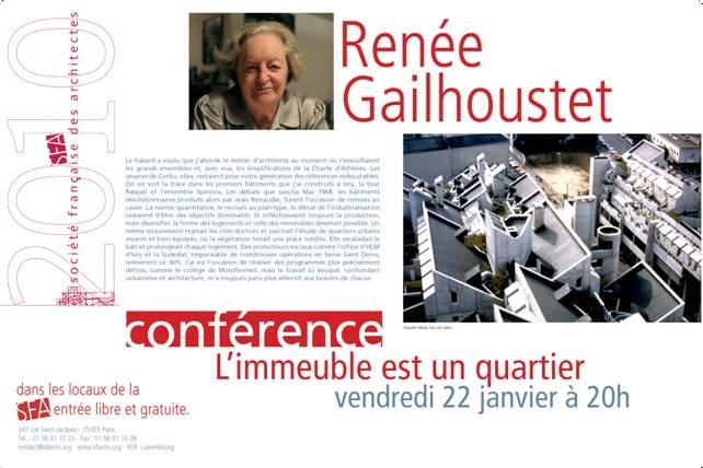 CONFÉRENCE RENÉE GAILHOUSTET