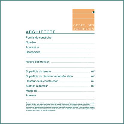 Le d lai de validit des demandes de permis de construire for Ordre d architectes