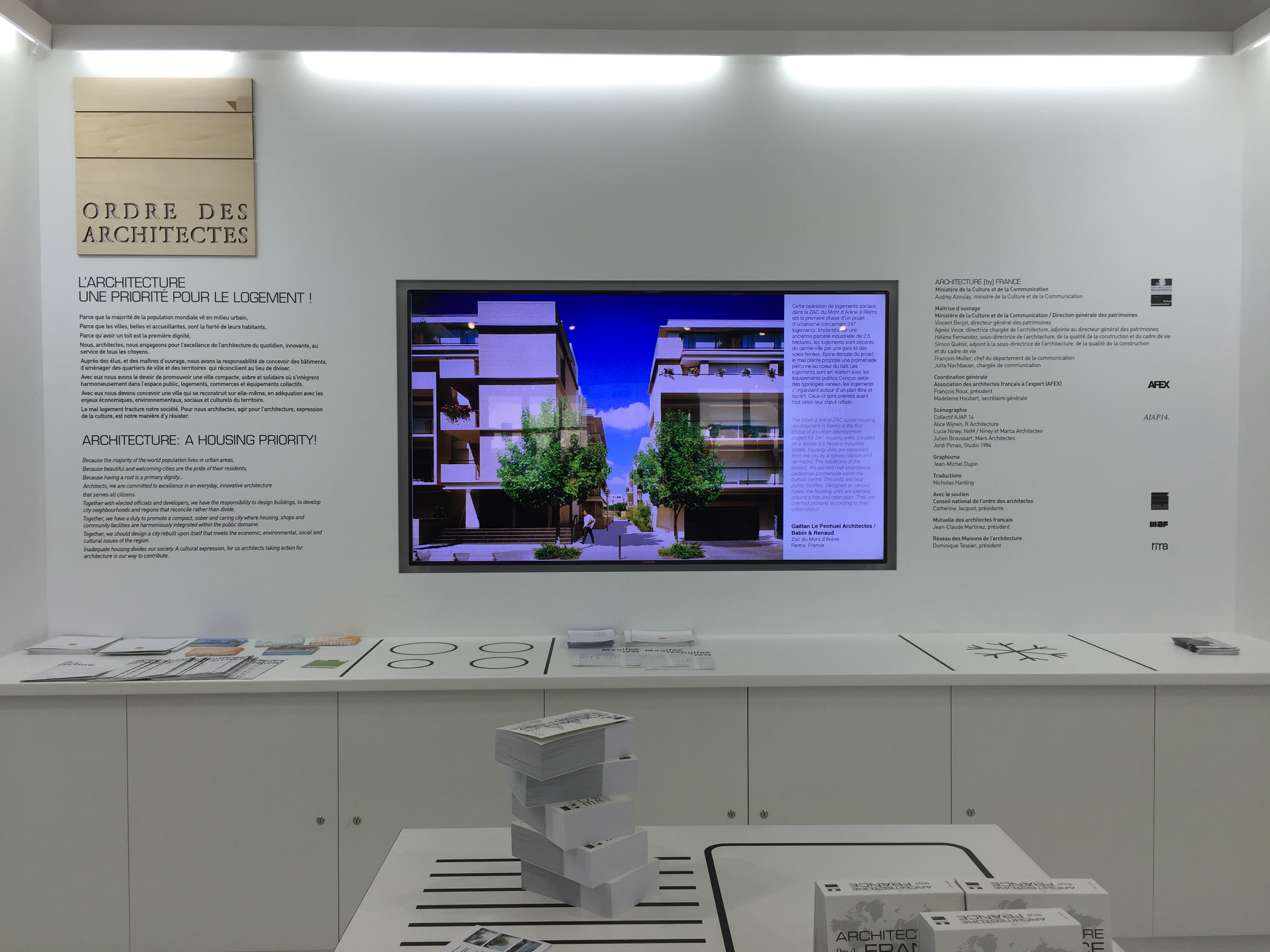 Stand ARCHITECTURE [by] FRANCE au MIPIM 2016