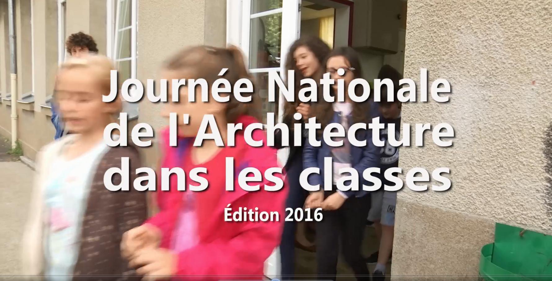 Journée nationale de l'architecture dans les classes