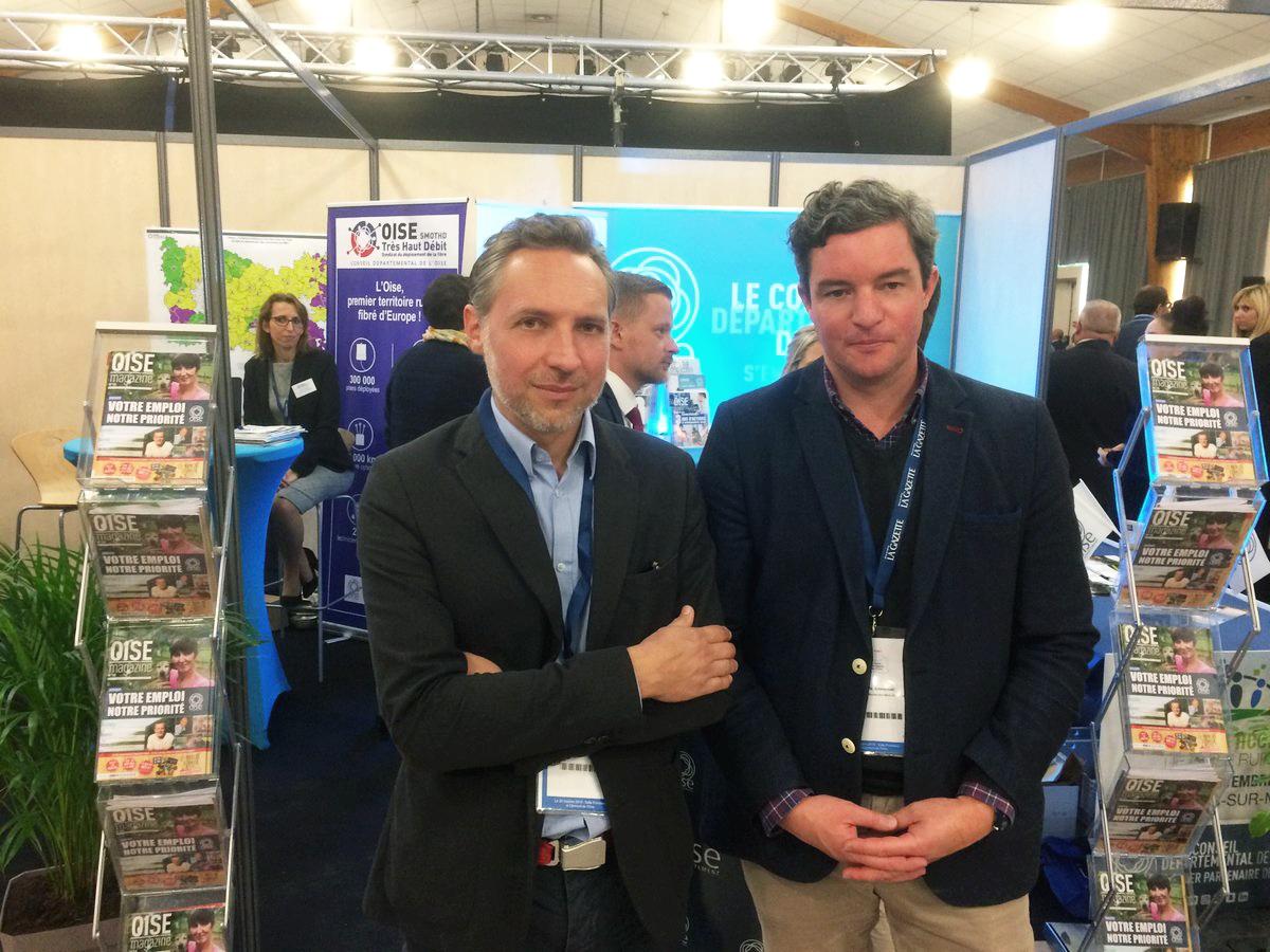 Régis Thévenet et Emmanuel Pascual au Salon des maires de l'Oise le 20 octobre 2018