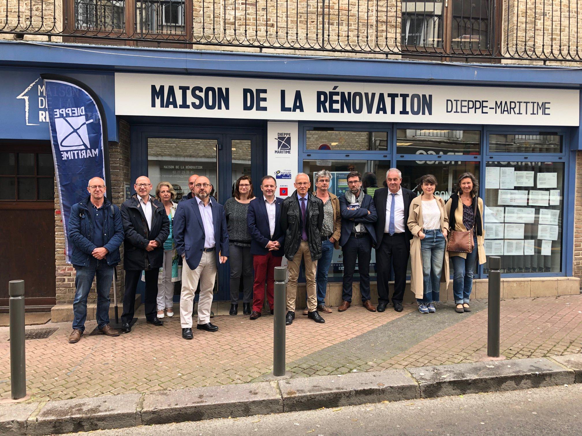 Signature de la Charte de partenariat de la Maison de la Rénovation de l'agglo Dieppe-Maritime