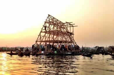 Makoto floating school, Kunlé Adeyami arch., Prix Vassilis Sgoutas 2014.