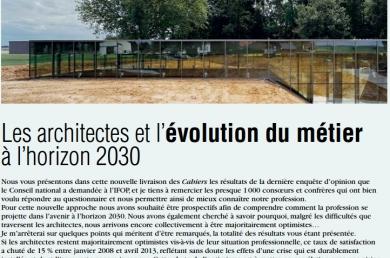 Les architectes et l'évolution du métier 2030