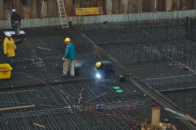 Ouvriers sur le chantier