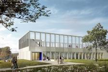 Projet de construction d'un gymnase dans un collège existant à la Colle Sur Loup (Alpes-Maritimes)