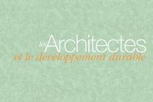 Couverture - Les Architectes et le développement durable