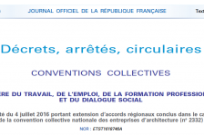Journal officiel du 12 juillet 2016
