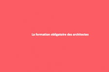 Formation des architectes