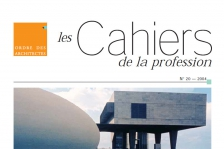 Couverture - Cahiers de la profession n°20