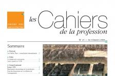 Couverture - Cahiers de la profession n°21
