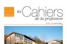 Couverture -Cahiers de la profession n°23