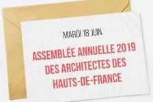 Mardi 18 juin : AA 2019 des architectes des Hauts-de-France