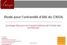 les enjeux du métier d'architecte aujourd'hui (Universités d'été de l'architecture 2014)
