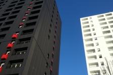 Rénovation des tours de logements Aunis et Navarre à Rennes - Jacques GEFFLOT, Marc VITEL arch. (Source Archicontemporaine.org)