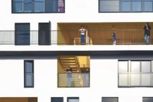 53 logements locatifs sociaux et espaces partagés à Lille, Sophie Delhay architecte (source : Archicontemporaine.org)