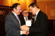 Patrick Bloche reçoit la médaille du Conseil des architectes espagnols