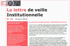 Lettre de veille institutionnelle - 8 avril 2019