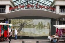 La ville qui manque (Monument et intimité) 2019, travail préparatoire, collage avec les œuvres de l'exposition Il est une fois