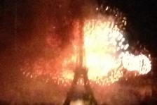 Feu d'artifice du 14 juillet, vu depuis la Tour Montparnasse, siège du CNOA