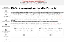 Espace Personnel - Recensement Site Faire