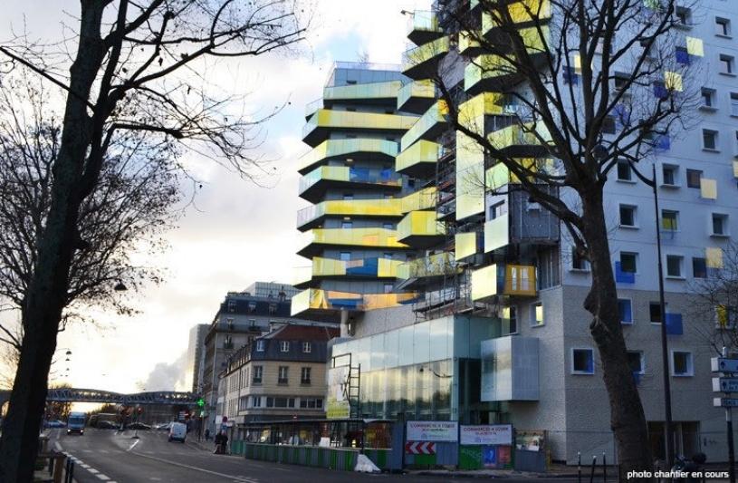 Construction de 87 logements sociaux et 2 commerces en RDC. Quai d'Austerlitz, PARIS 13°