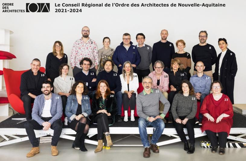 conseil régional de l'Ordre des architectes de Nouvelle-Aquitaine 2021-2024