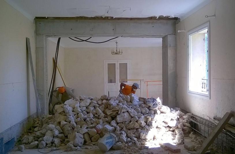 Rénovation: reprise en sous-oeuvre mur porteur