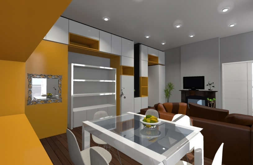Appartement SP - perspective sur salon