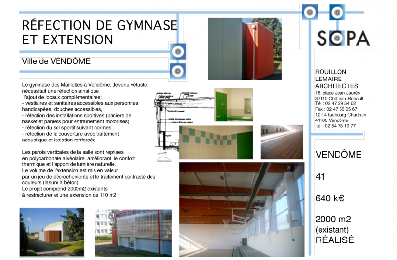 GYMNASE RÉHABILITATION - EXTENSION
