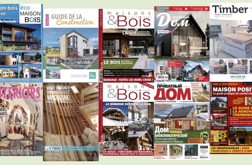 Communication projets dans magazines France & Pays Etrangers... 1er semestre 2016