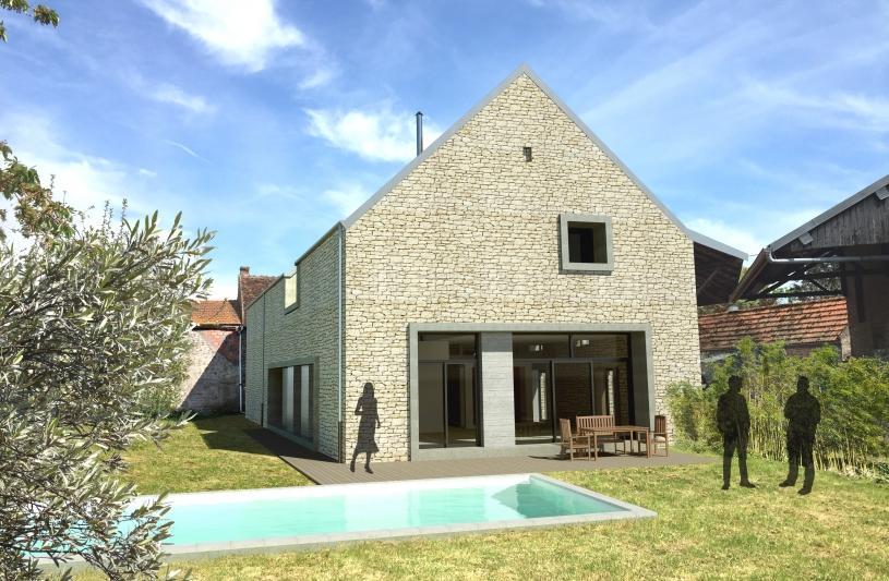 Restructuration d'une grange en habitation contemporaine à Millery 21