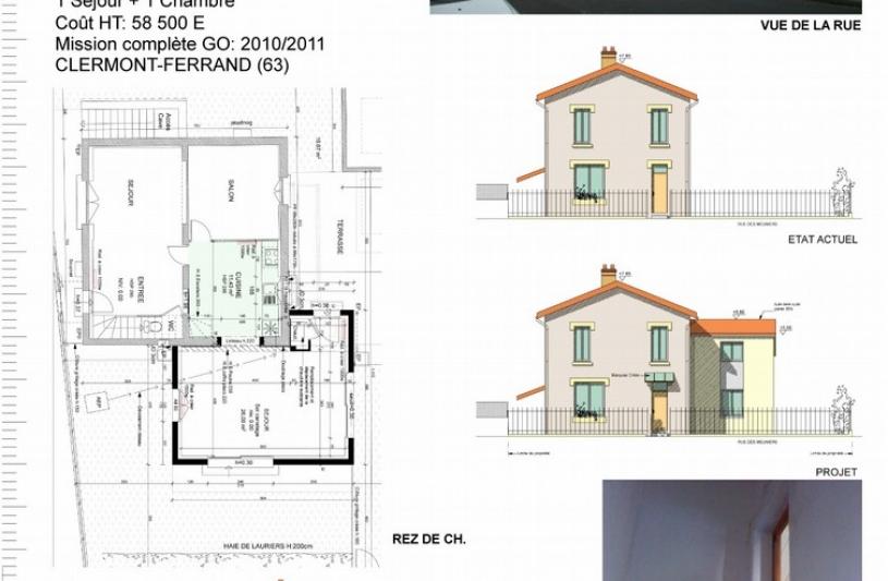 Eurl d 39 architecture pascaline juste ordre des architectes for Extension maison 93