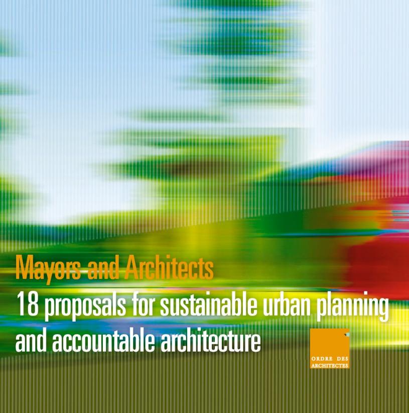 Couverture - Maires et architectes - 18 propositions...en anglais